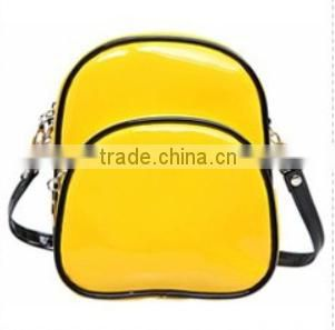 Pormotion candy color PU leather backpack shape cosmetic bag made in china