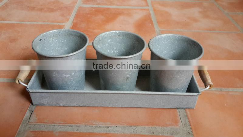 The New Modern Style Zinc Planter - Tall Zinc Water Pots