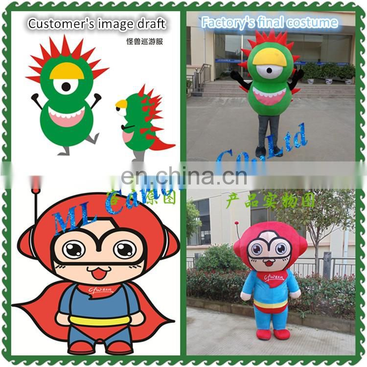 Creative vegetable costume bitter gourd mascot costume for business promotion