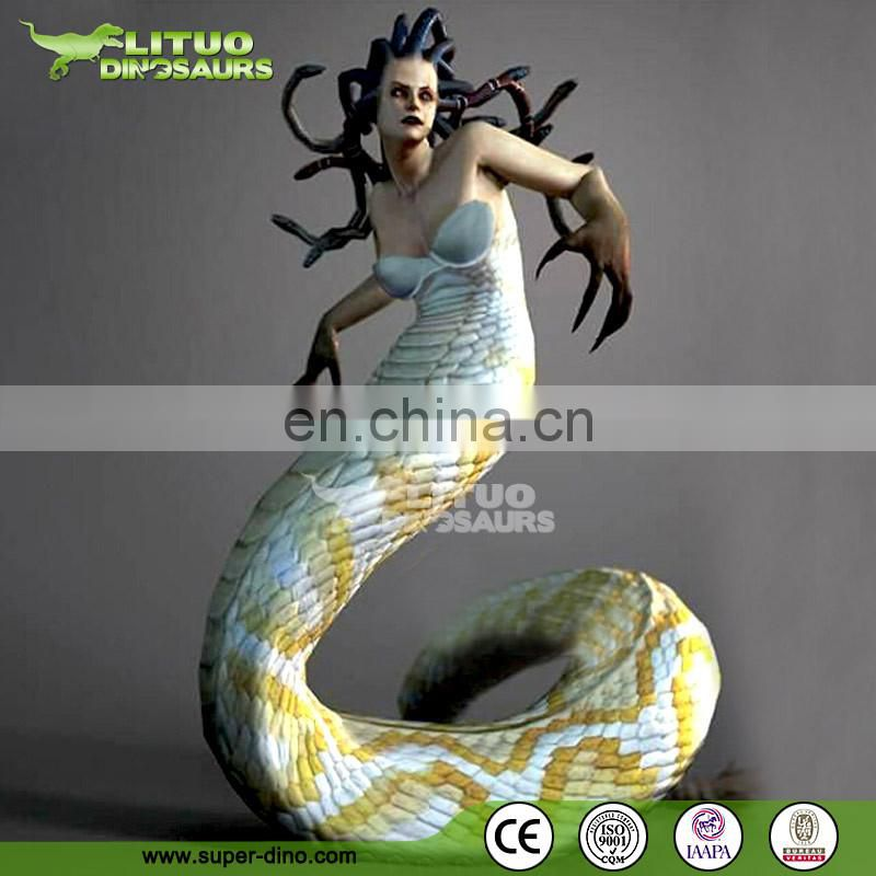 Greek Mythology Fiberglass Life Size Medusa Statue
