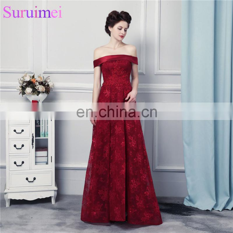 db4f9a2bbfa Lace Bridesmaid Dresses Corset Lace Up Wine Red Lace Burgundy Off ...