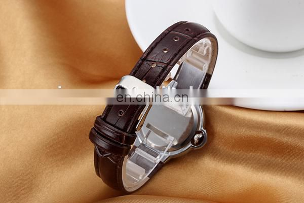 Promotional simple lady watch leather watch fashion wrist watch women