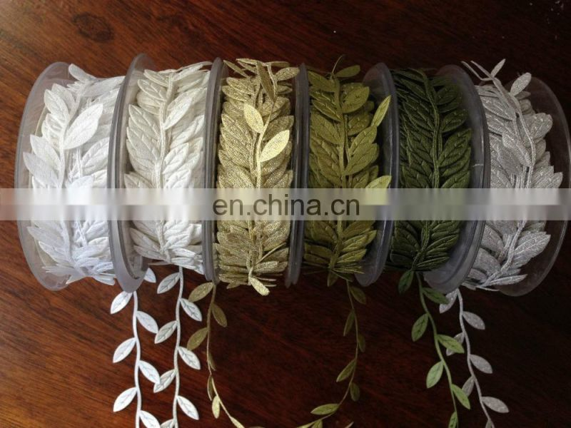 Leaf ribbon trim for decoration