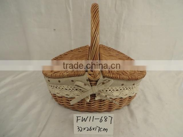 Wholesale wicker picnic basket wicker mini picnic basket