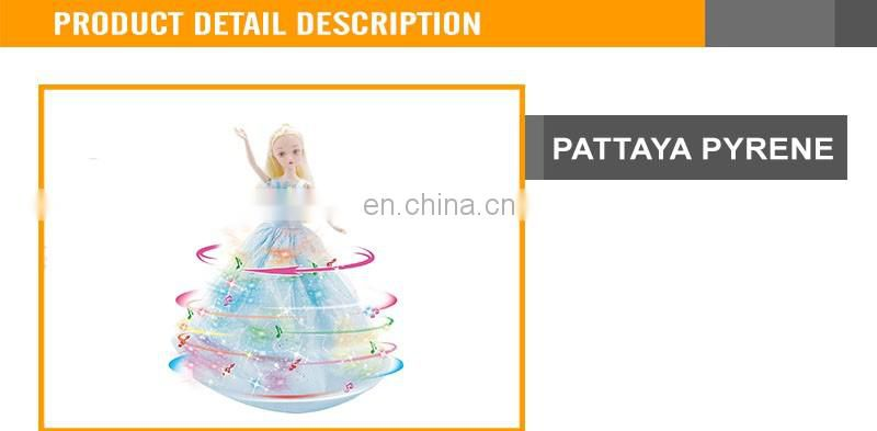 Hot sale 11.5 inch fashion B/O Dancing doll with light musical doll