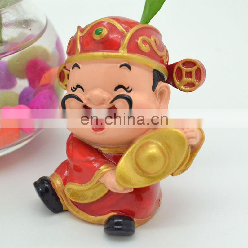 Customized 3D lovely panda polyresin figurine