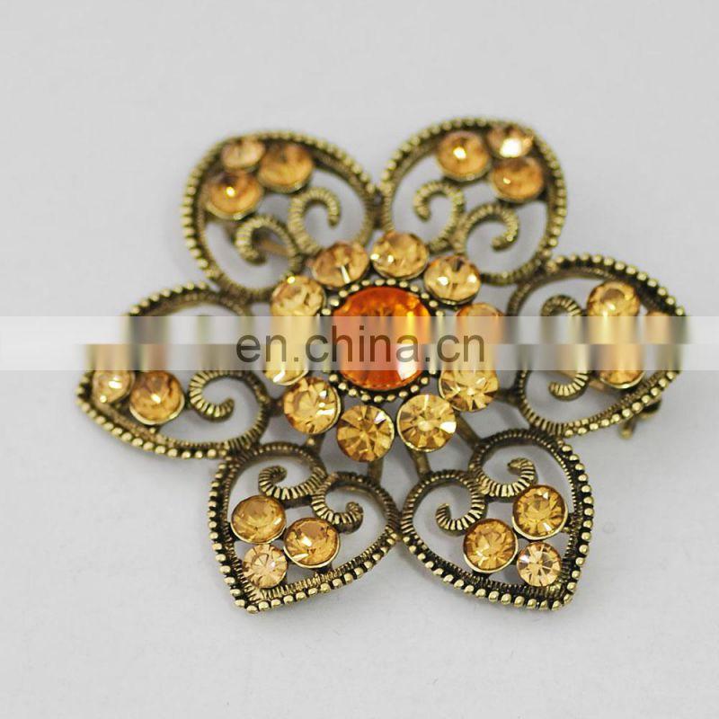 high quality cheap wholesale crystal stone custom brooch
