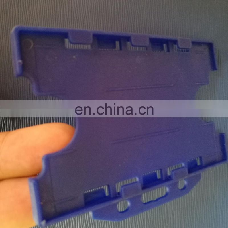 Horizontal holding plastic two cards double side ID card holder