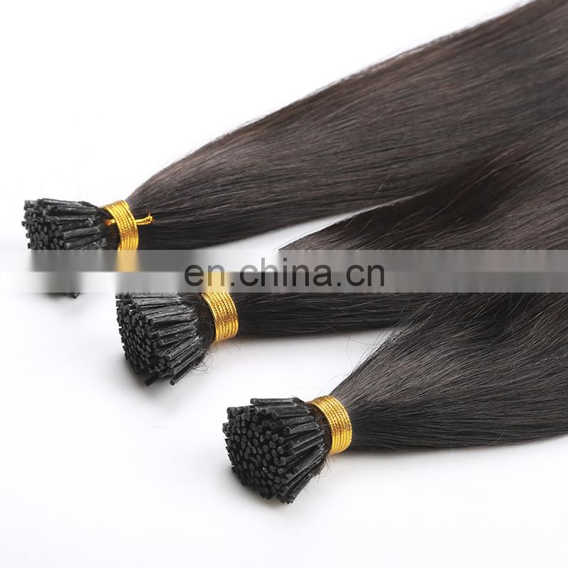 100% unprocessed human hair extension brazilian virgin unprocessed hair i tip hair