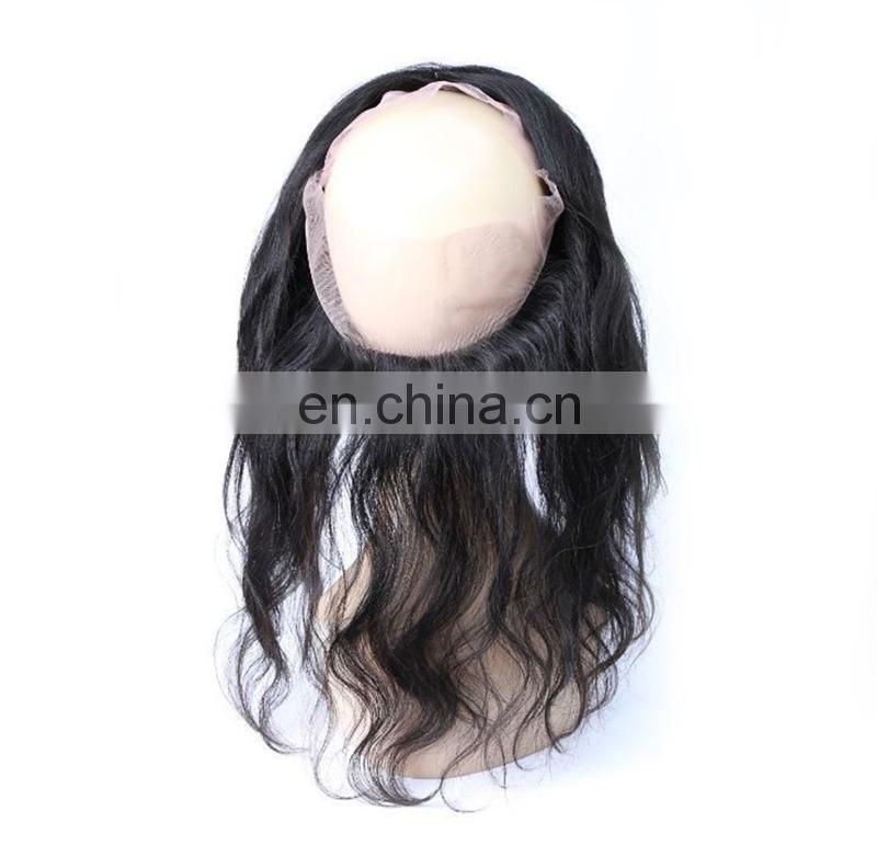 2017 new brazilian human hair mink 360 lace frontal with bundles
