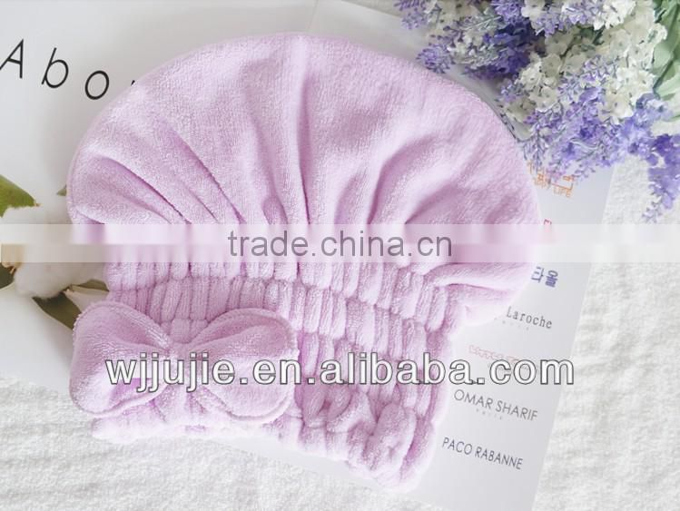 quickly drying hair hood with microfiber
