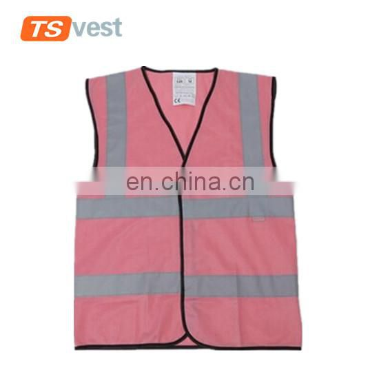 Colorful High Vis pink reflective safety vest for emergency