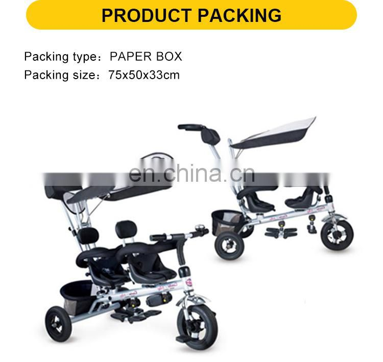 Double Baby Walker Trike With 3 Wheels Bicycle