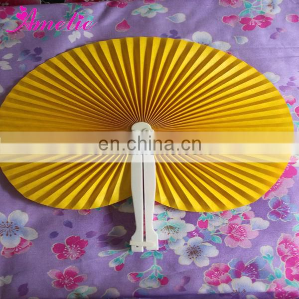 A9910 Plain Plastic Handle Fan For Wedding Gift