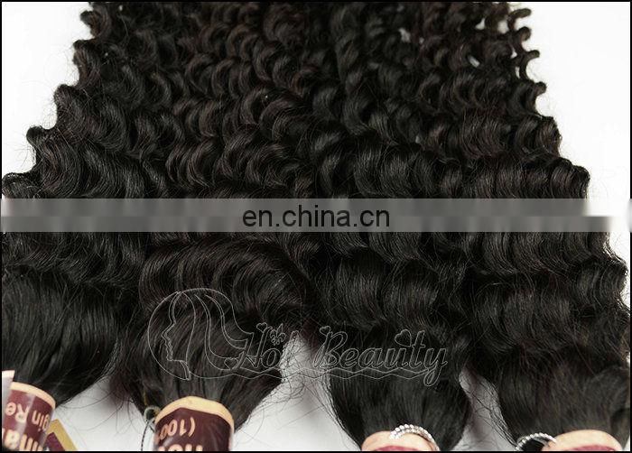 100% Unprocessed Brazilian Kinkly Curly Chocolate Hair Extension