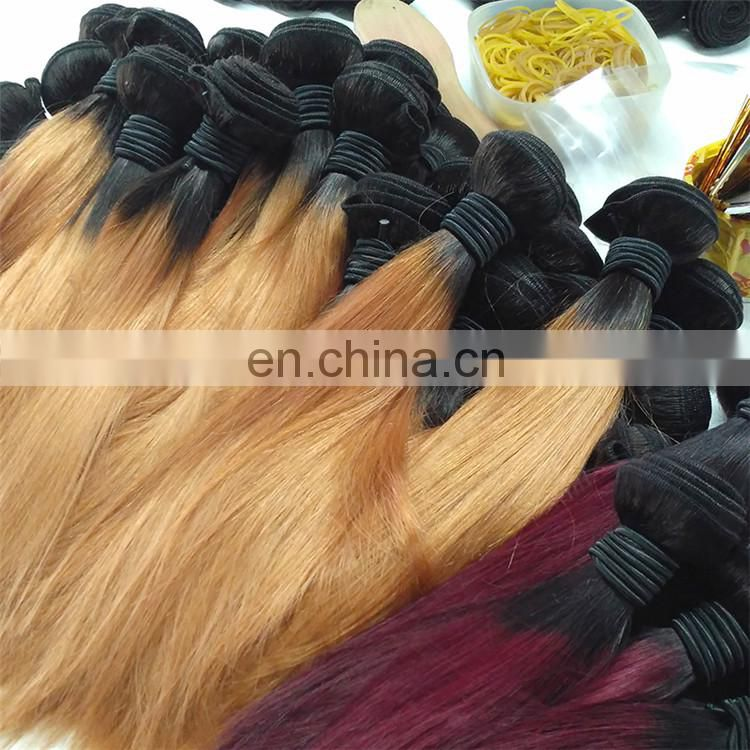 Popular Fashion Virgin Ombre Brazilian Human Hair Weave Wholesale Price Perfect Lady Hair Extensions