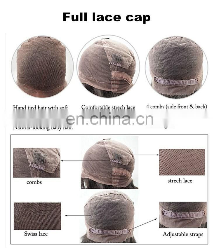 Best Glueless Full Lace Wig Brazilian Silky Straight Full Lace Human Hair Wigs For Black Women