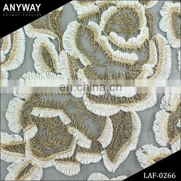 Newest Cotton Dacron Nylon Crocheted Guipure Lace Fabric Wholesale