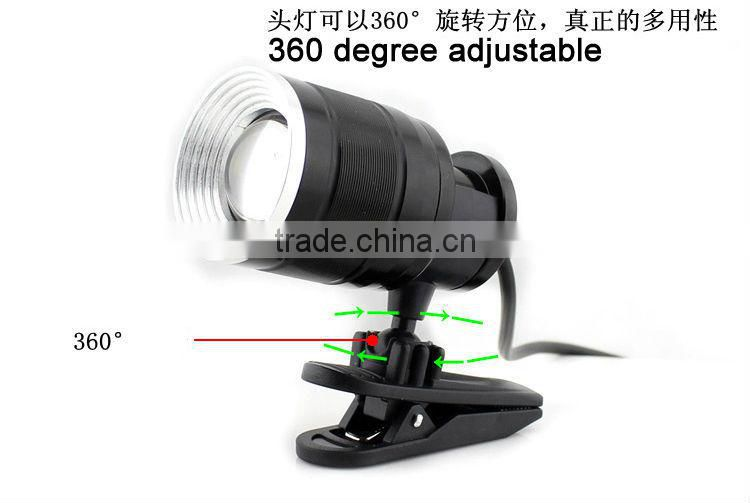 Goread GD10 black aluminum high bright XML-T6 360 degree rechargeable headlamp zoom