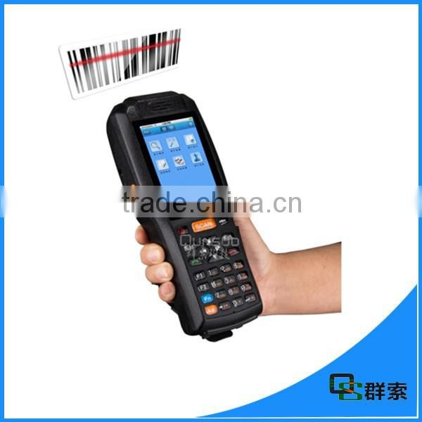 3G/wifi/gps/bluetooth/ nfc reader barcode scanner handheld android pos terminal with printer PDA3505