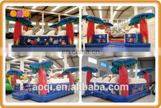 2015 hot sale palm tree inflatable jump bouncer for kids for sale