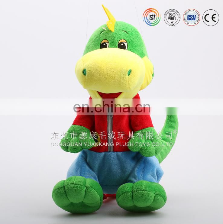 Customized cartoon animal dragon plush dinosaur backpack for kids