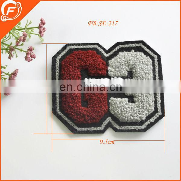 no 9 shape custom kids embroidered eagle patch fashion patches for clothes