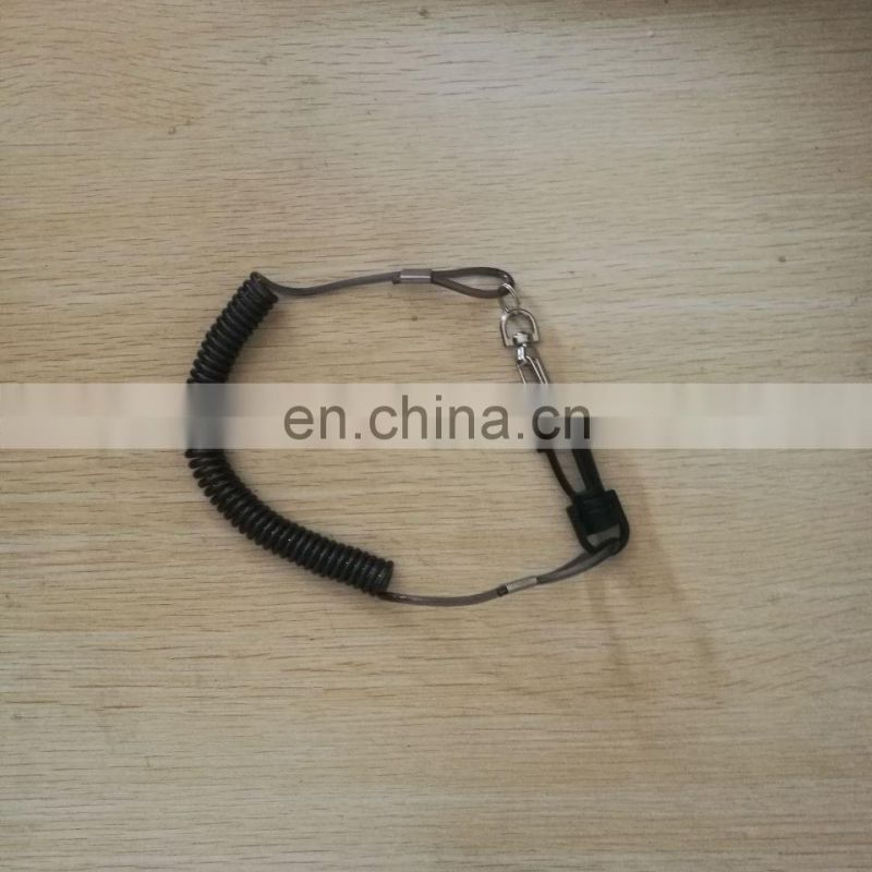 plastic spiral bungee cord coil lanyard with customized color