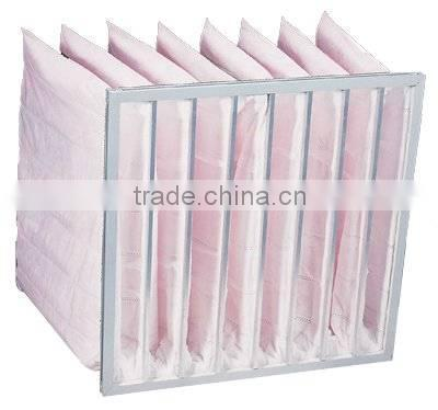 price for central air conditioning filter replacement pocket fiber ptfe glassfiber pleated dust filter bag