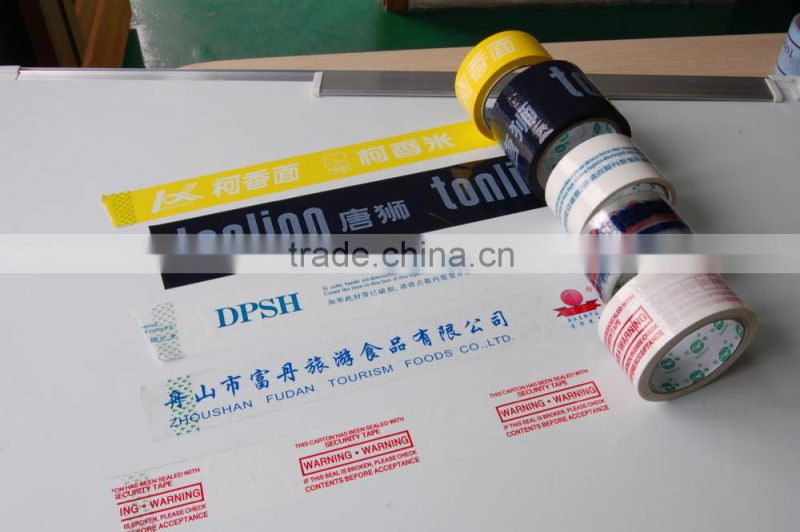 10 years factory Strong adhesive custom logo printed bopp packing tape with company logo