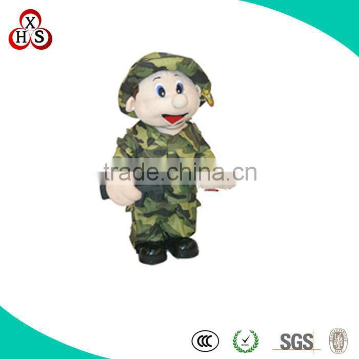 2014 Latest Customized baby battle fatigues doll plush