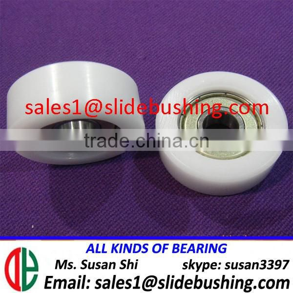 curtain window sliding door plain bearing 625 wrapped polyurethane PU rubber ball bearing U V groove ring plastic coated bearing