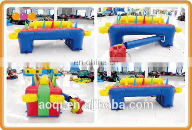 2015 popular outdoor interactive inflatable floating ball game for sale