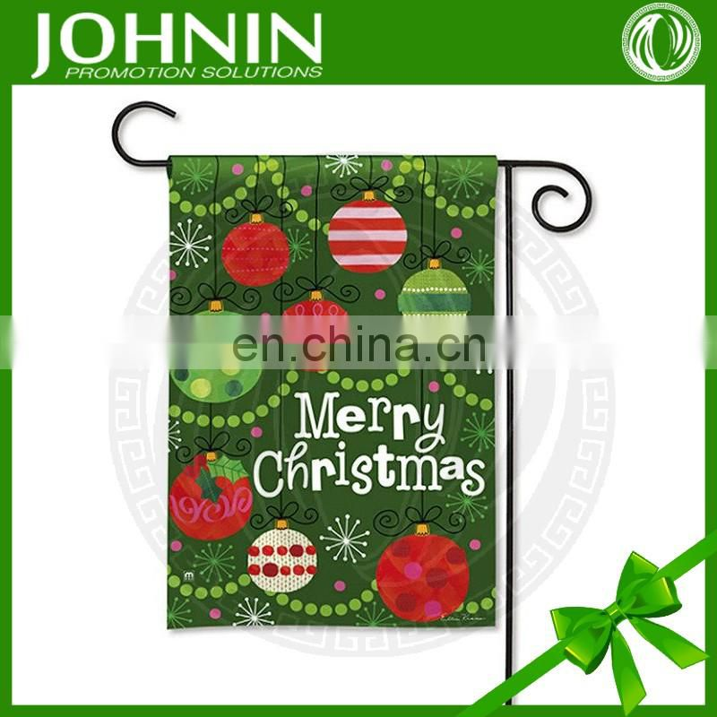 printed custom logo decorative outdoor merry christmas garden flag