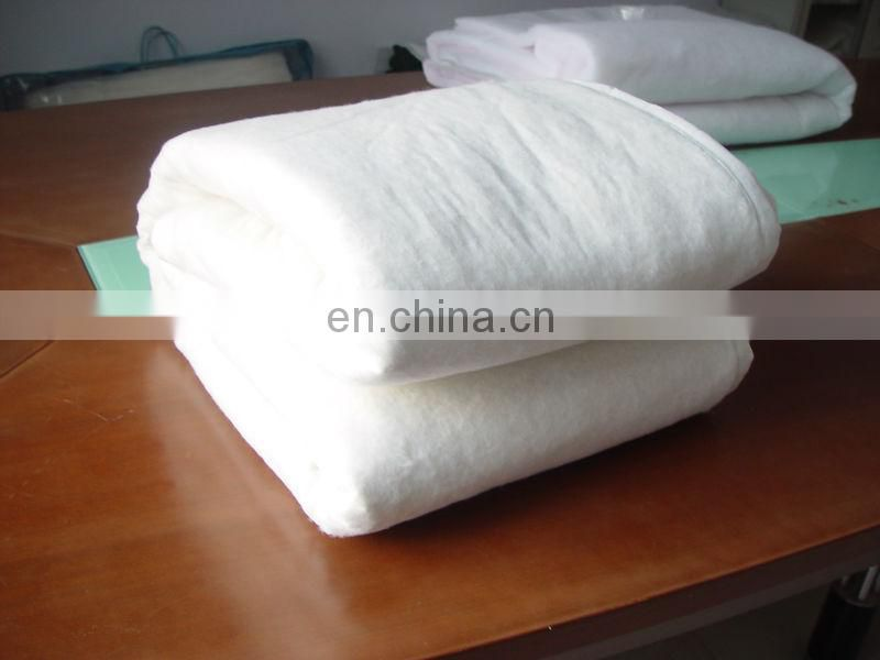 polyester/ cotton wadding nonwoven interlining for quilt and clothing