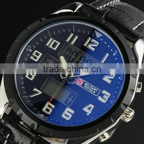 MR007 New Classic Mens Man Black Face Army Military Wrist Watch