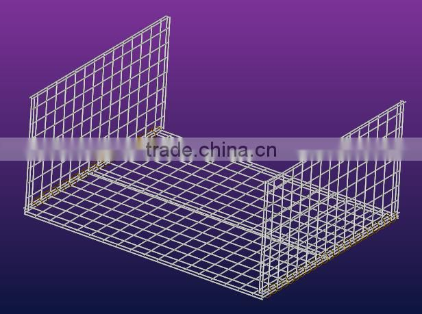 mesh box logistics storage cage with castor,net pallet with castor Image