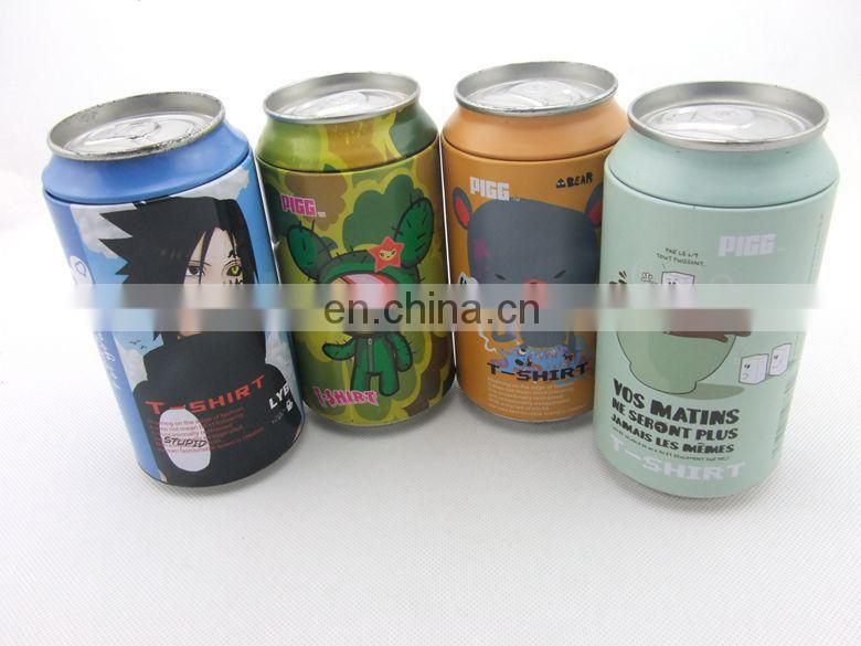 Promotion zip-top can or bottles compressed T-shirt