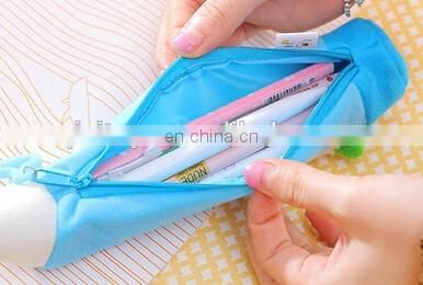 Cute Creative Wholesale Stationery Cartoon Bag Plush Pencil Bag for Children Gift