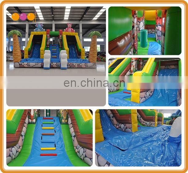 Play equirment mini safari water slide park with pool for kids