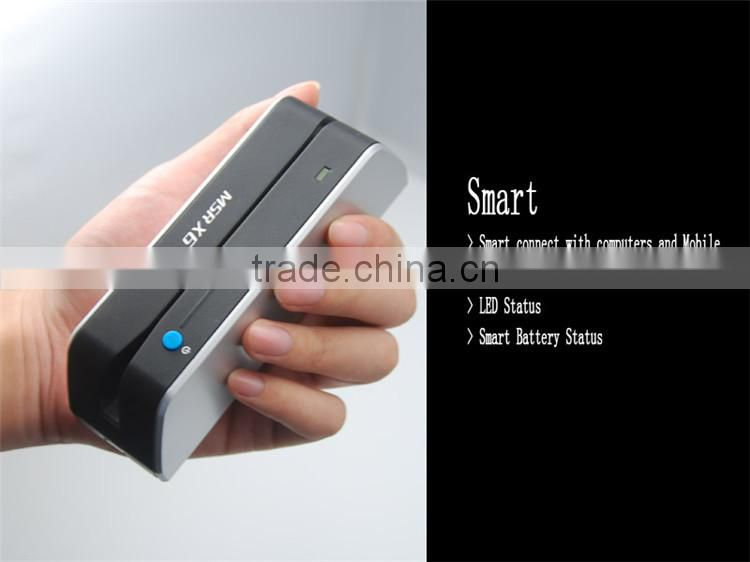 msrx6bt bluetooth wireless mobile phone card reader protable