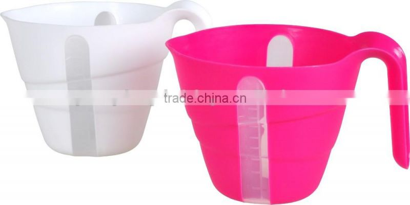 China factory custom duotone plastic sets 1L measuring cups with or without lid