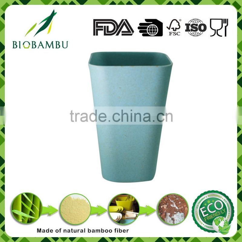 Simple style Good appearance Manufacturer Supply bamboo fiber square cup