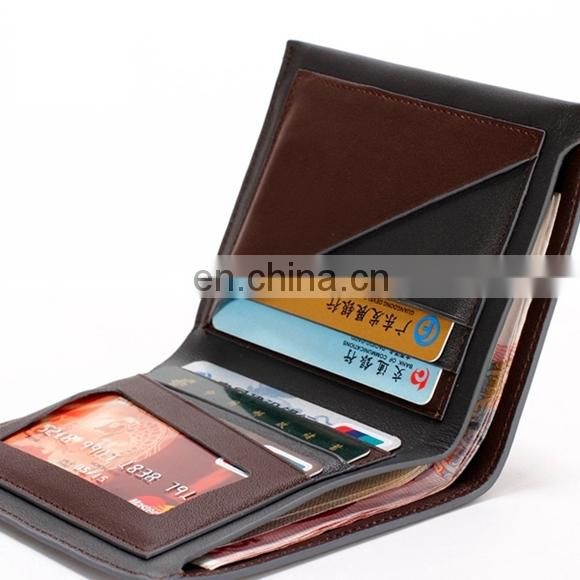 TRENDY CUSTOM WHOLESALE NAME BRAND HANDMADE LEATHER WALLET FOR MEN