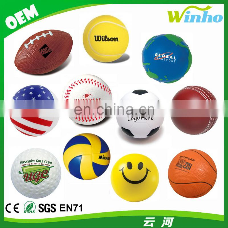 Winho PU Sponge Anti Stress Football Team T-Shirt Keychain