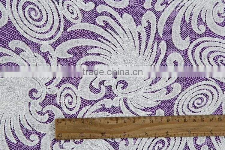 wholesale cheap characteristic cotton guipure lace fabric with high quality for dress
