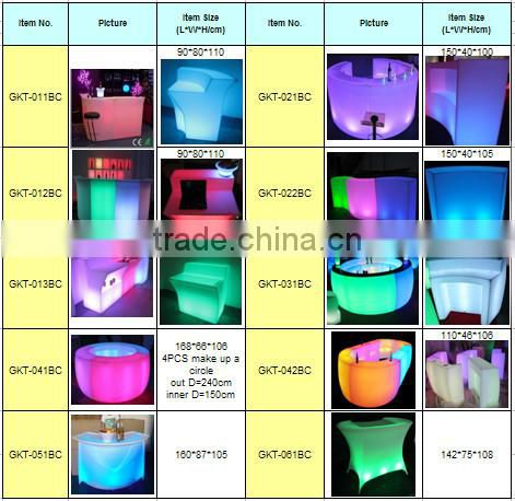 bar counter/led counter/nightclub counter/cafe counter GKT-022BC
