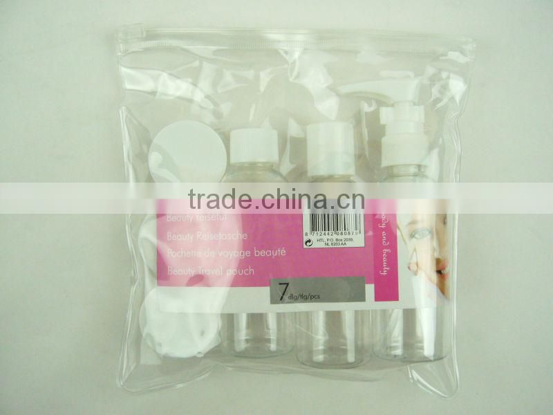 6Pcs travel bath set with PVC bag