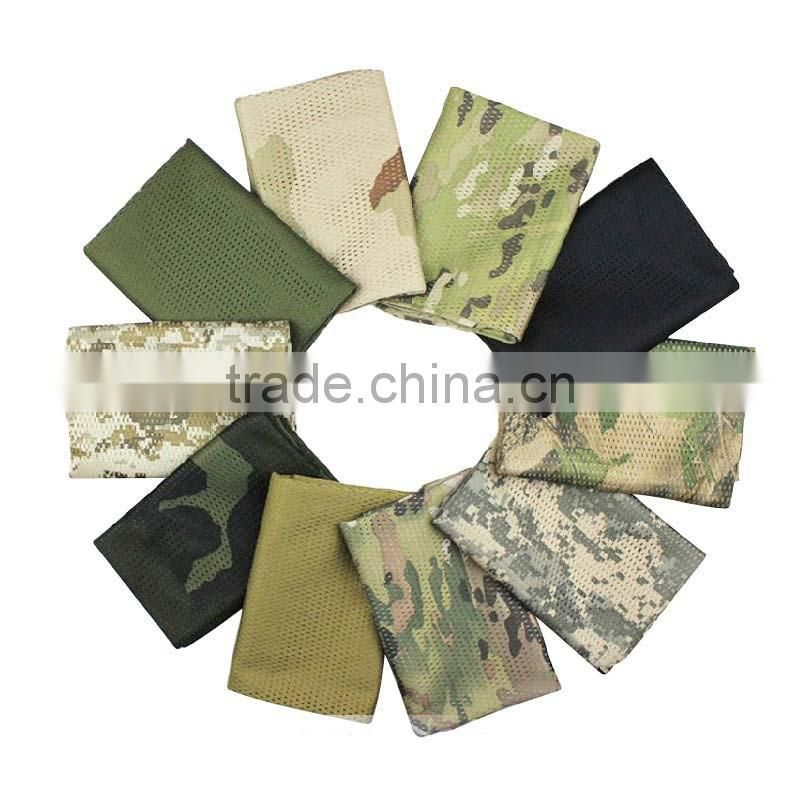 Fashionalble TC tactical mesh scarf/Outdoor Tactical Bicycle Shemagh/More Color camouflage knitted scarf