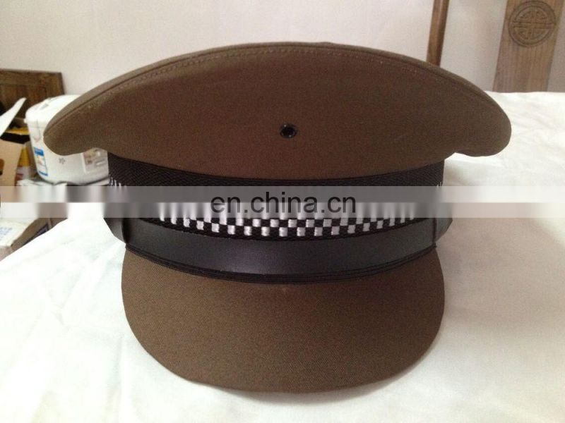 100% wool customized khaki color of army dress cap for different rank